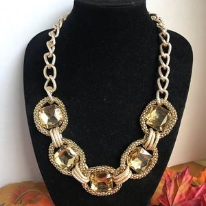Cara New York Jeweled Statement Chain Necklace